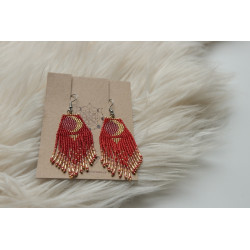 My Moon Earrings RED